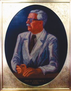 Figure 2. Prof. C.C. Iliescu The painting is now in the Meeting Room of the University of Medicine, Bucharest.